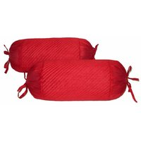Quilting Bolster Cover Red 2 Pcs Set