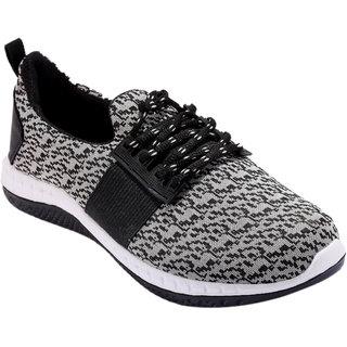 Spot On Men Black Grey Running Shoes
