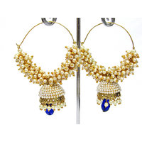 Blue Drop Leheriya Jhumka Earring