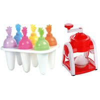 Combo OF Summer Ice Cream Kulfi Maker 6 Cone With Snow Maker (Gola Maker) 1 Pcs.