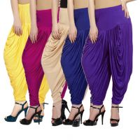 Fashion And Freedom Women's Pack of 5 Lycra Base Viscose Dhoti