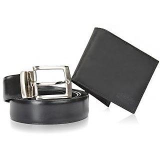 Mens Belt + Wallet Combo