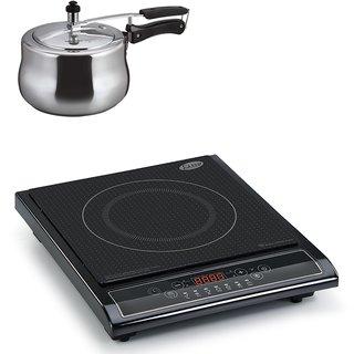3071 Glen Induction Cooker + Alda Aluminum Pressure Cooker 3.0Ltr ( COMBOS )