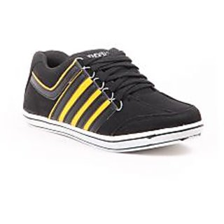 Foot N Style Black & Yellow Casual Shoes Fs300