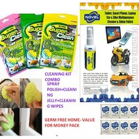 Novel Clean Utilty high-tech Cleaning Compound Slimmy Jelly 60 ml Polish With Cleaning Wipes Combo