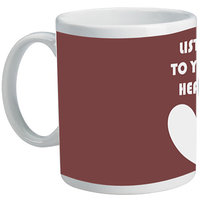 Listen To Your Heart Mug By Shopmillions