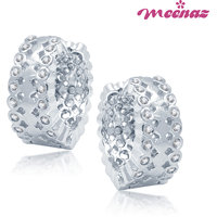 Meenaz Silver Plated  Silver Ear Thread For Women