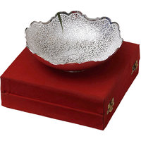 Anand Kala Mandir Silver Plated Brass Tableware Dry Fruit Bowl