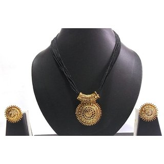 Non Plated Gold Gold Necklace Set For Women