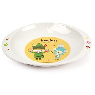 Lock&Lock Hello Bebe Baby Feeding Oval Plate with Handle  Roo/Friends  Small