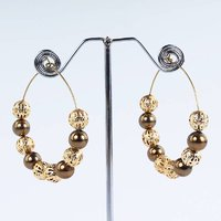 Golden brown hoops earrings