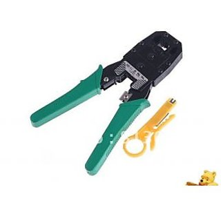 Crimping Tool with Wire Stripper RJ45 RJ11 LAN cutter