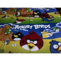 Superb Quality Angry Bird Print Single Bed Sheet With One Pillow Cover