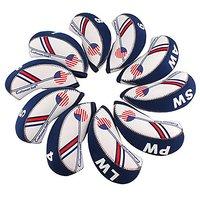 Craftsman Golf USA Flag Neoprene Golf Club Head Cover Wedge Iron Protective Headcover