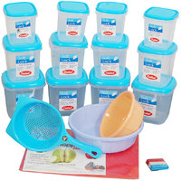CHETAN 22 PC MULTIPURPOSE KITCHEN STORAGE SET @ 1299/= Only.(Free Delivery)