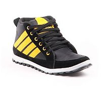 Foot n Style Grey  Yellow Casual Shoes fs311
