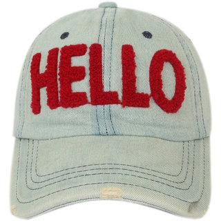 ILU Denim cap baseball cap caps for man woman Boys Girls Men Women Snapback cap Hip hop cap/Hello