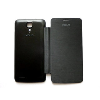 Xolo Q700 Flip Cover Black available at ShopClues for Rs.150