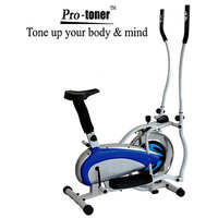 Protoner Elliptical Bike Heavy Duty With Steel Wheel