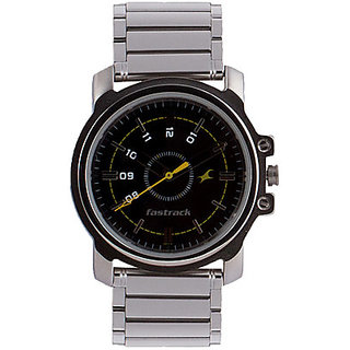 Buy Fastrack Silver Stainless Steel Analog Men Watch 3039sm02