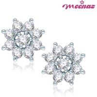 Meenaz Royal Enchantment Rhodium plated CZ Earrings T103