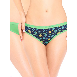 SOIE Women'S Brief Multicolor Panty (Pack Of 2)