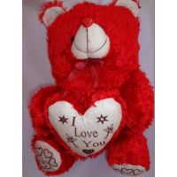 "Teddy Bear Red,child,love Gift, Soft Toys, 22'', Slogan ""I Love You"", Diwali"