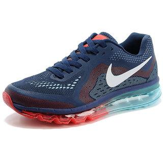 NIKE AIR MAX 2014 Men/Women Deep Blue Red Shoes