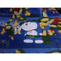 KIDS COLLECTION:SUPERB QUALITY  DOREMON SINGLE BED SHEET WITH ONE PILLOW COVER