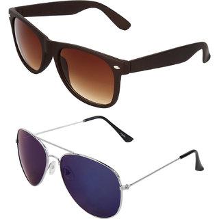 Zyaden Combo of Wayfarer Sunglasses & Aviator Sunglasses (Combo-21)