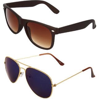 Zyaden Combo of Wayfarer Sunglasses & Aviator Sunglasses (Combo-23)