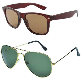 Zyaden Combo of Wayfarer Sunglasses & Aviator Sunglasses (Combo-43)