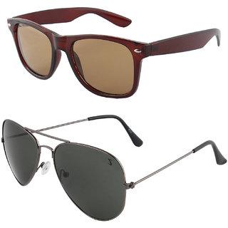 Zyaden Combo of Wayfarer Sunglasses & Aviator Sunglasses (Combo-42)
