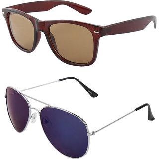 Zyaden Combo of Wayfarer Sunglasses & Aviator Sunglasses (Combo-45)