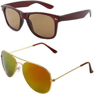 Zyaden Combo of Wayfarer Sunglasses & Aviator Sunglasses (Combo-44)