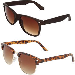 Zyaden Combo of Wayfarer Sunglasses Clubmaster Sunglasses (Combo-55)