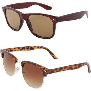 Zyaden Combo of Wayfarer Sunglasses Clubmaster Sunglasses (Combo-64)