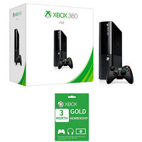 Microsoft X-Box 360 E 4 GB Gaming Console With Xbox Live 3-Month Gold Card