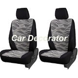 Car Seat Covers Printed Black For Volkswagen Jetta + Free Dvd Holder