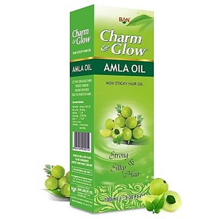 Charm Glow Herbal AMLA HAIR OIL For Strong and Silky Hair (Pack of 5 pcs.) 50 Ml Each