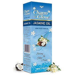 Charm Glow Herbal JASMINE HAIR OIL For Strong and Silky Hair (Pack of 5 pcs.) 50 Ml Each