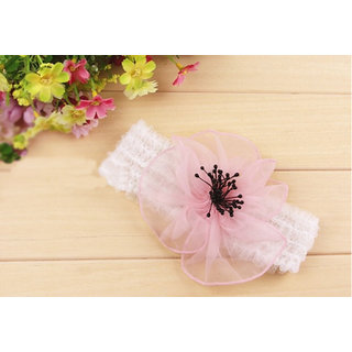 AkinosKIDS Bowknot Big Flower Petal Newborn BabyGirl Soft Headband