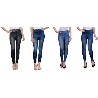Multicolor Skinny Fit Jeggings For Women