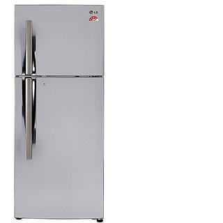 LG  GL-I292RPZL 260 Litres Frost Free Double Door 4 Star Refrigerator  (Silver)