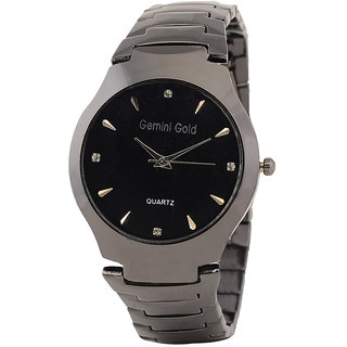 GEMINI GOLD STAINLESS STEEL CASUAL PARTY WATCHES FOR MEN  BOYS