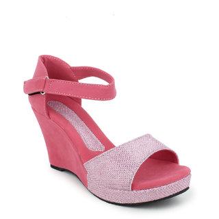 Hansx Women Pink Open Wedges ]