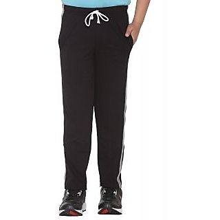Vimal Black Cotton Blended Trackpant For Boys