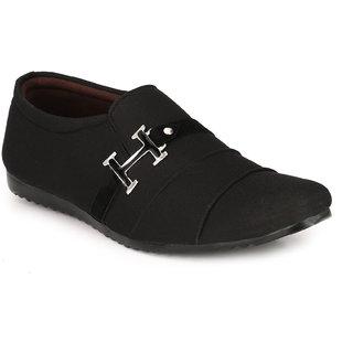 Groofer Men's Black Casual Shoes