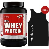 Medisys 100 Whey Protein - Vanilla - 1Kg Free Sando