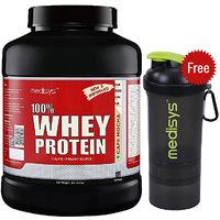 Medisys 100 Whey Protein - Cafe Mocha - 2Kg Free-Shaker